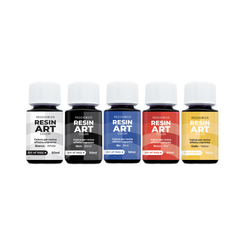 RESIN ART COLOR -  Intense and brilliant colors for resin in 5 colors of 50ml (covering effect)