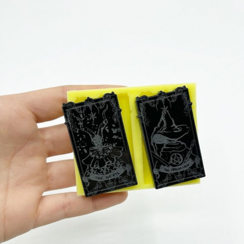 """Set of """"The Magician"""" and """"The Devil"""" Tarot Cards 