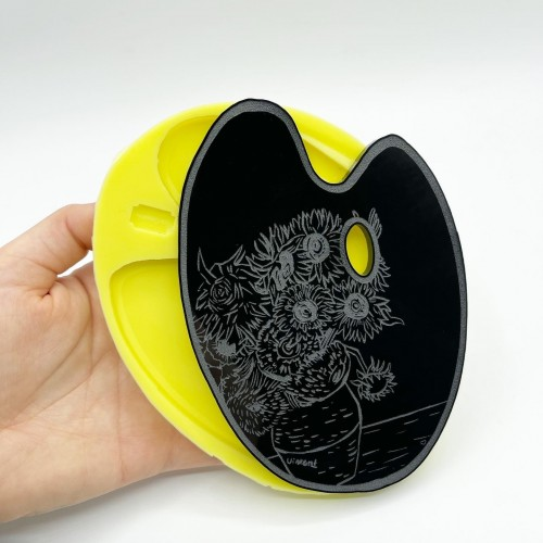 Van Gogh's Sunflowers Palette Mold Large| Silicone Molds | Reschimica
