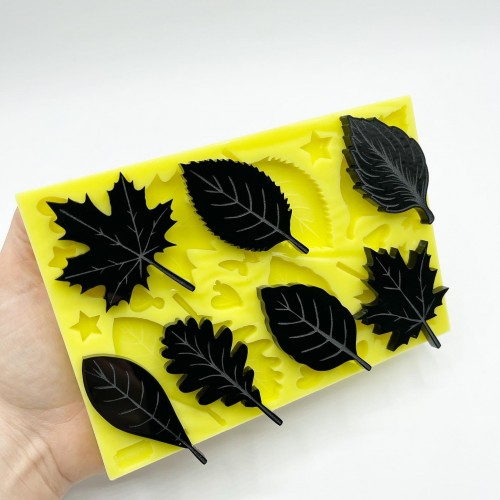 7 Leaves Mold| Silicone Molds | Reschimica