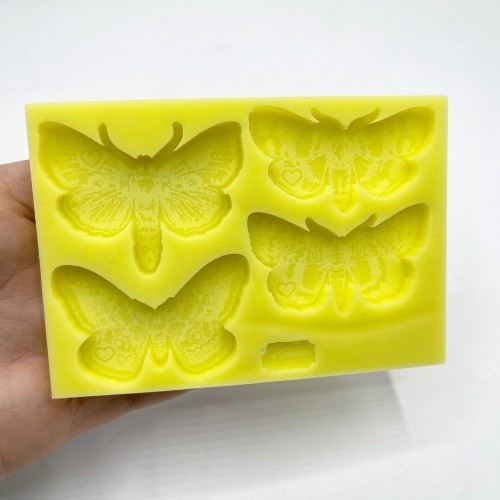 4 Shapes Moth Mold| Silicone Molds | Reschimica