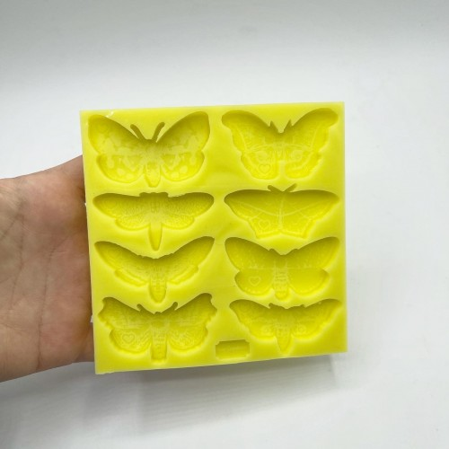 8 Shapes Moth Mold| Silicone Molds | Reschimica