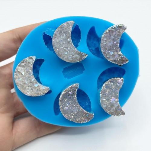 Stampo 5 Geodi Fasi Lunari| Stampi in Silicone | Reschimica