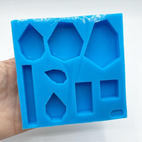 8 Shapes Gems Pendant Mold| Silicone Molds | Reschimica