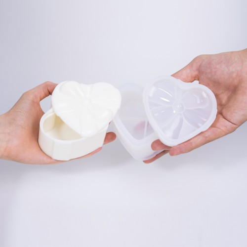 Heart Flower Resin Box | Stampi in Silicone | Reschimica