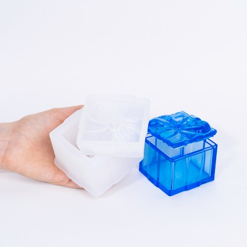 Square Flower Resin Box | Stampi in Silicone | Reschimica