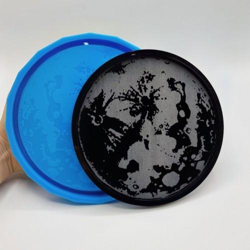Stampo silicone morbido Vassoio Luna Piena| Stampi in Silicone | Reschimica