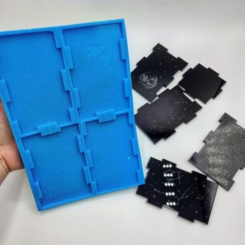 Stampo silicone morbido Portapenne Luna| Stampi in Silicone | Reschimica