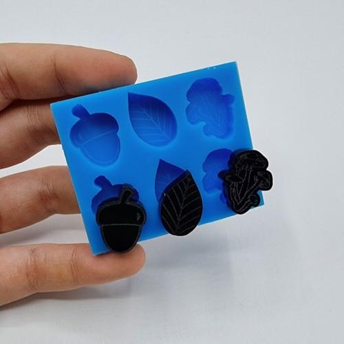 Stampo silicone morbido 6 mini forme Autunno| Stampi in Silicone | Reschimica