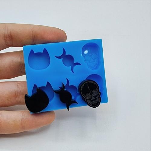 Stampo silicone morbido 6 mini forme Creepy| Stampi in Silicone | Reschimica
