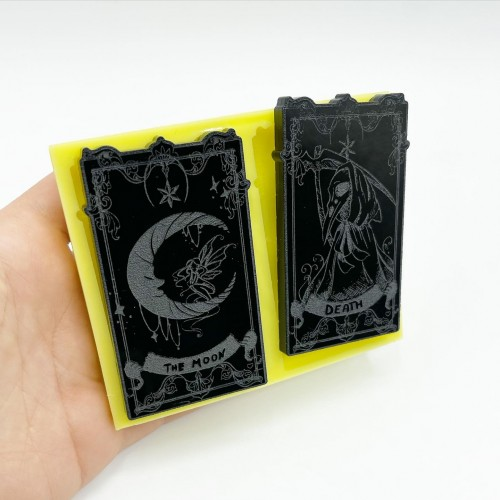 """Set of """"The Moon"""" and """"Death"""" Tarot Cards 