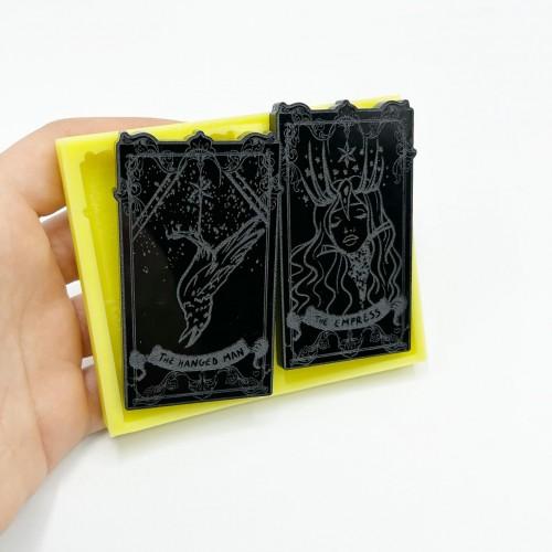 "Set Carte dei Tarocchi ""The Hanged Man"" e ""The Empress"" | Stampi in Silicone | Reschimica"