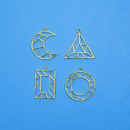 Geometric Gold Bezel | Forme Geometriche - ciondoli